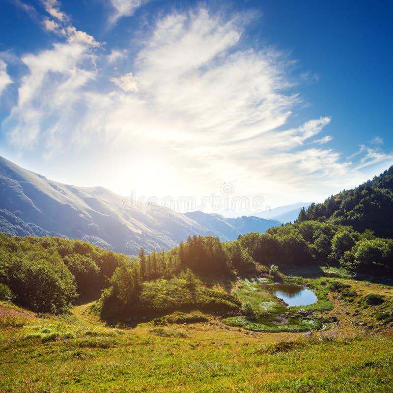изумительная гора ландшафта стоковое фото rf