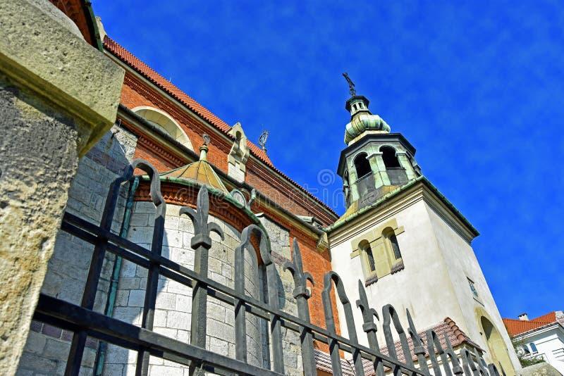 изумительная церковь в krakow стоковая фотография rf