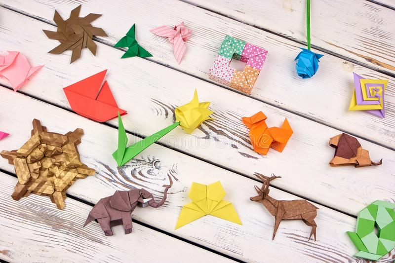 Изумительные ремесла origami стоковая фотография