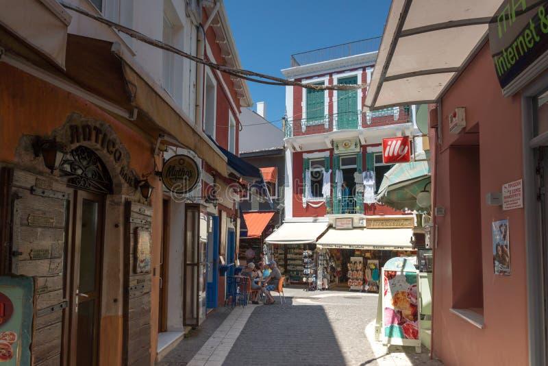 Изумительный взгляд лета городка Parga, Epirus, Греции стоковые фото