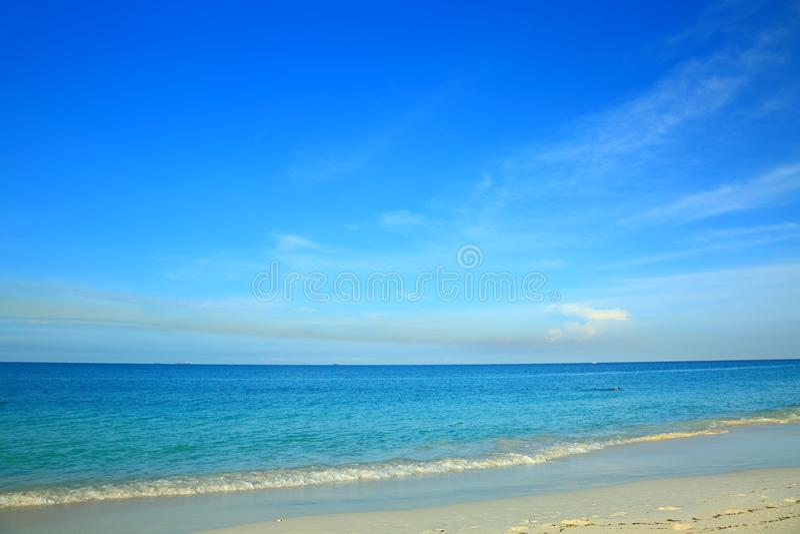 Изумительный взгляд на пляже орла острова Аруба карибско стоковые фото