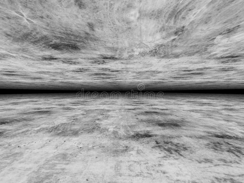Изумительный взгляд серой черноты вверх по и под предпосылке стоковая фотография rf