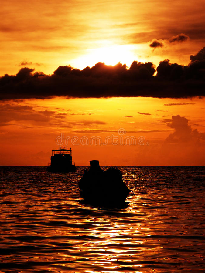 изумительный заход солнца Стоковое Изображение