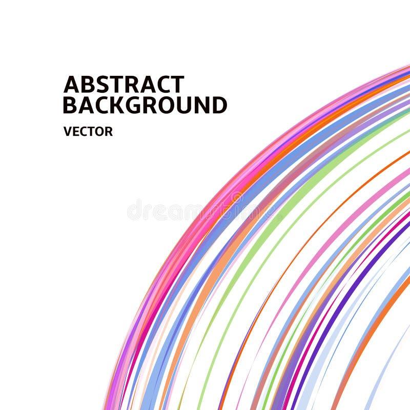 Изумительный линейный поток, абстрактный белый дизайн космоса фона шаблона предпосылки вектора для плакатов, рогулек, крышек иллюстрация штока