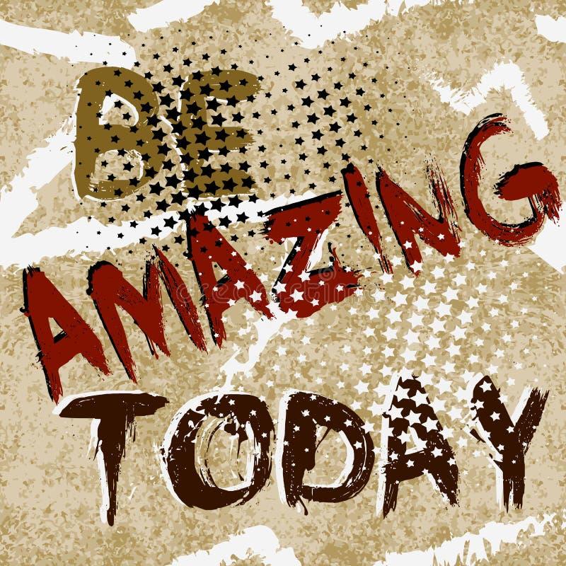 Изумительный сегодня Картина текста абстрактного grunge безшовная Обои abc вектора Предпосылка Grungy старой бумаги грязная Рисуя иллюстрация вектора