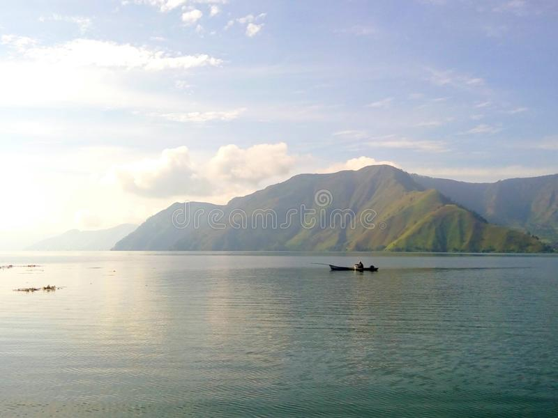 Изумительное озеро Toba, северное Sumatera стоковое фото rf