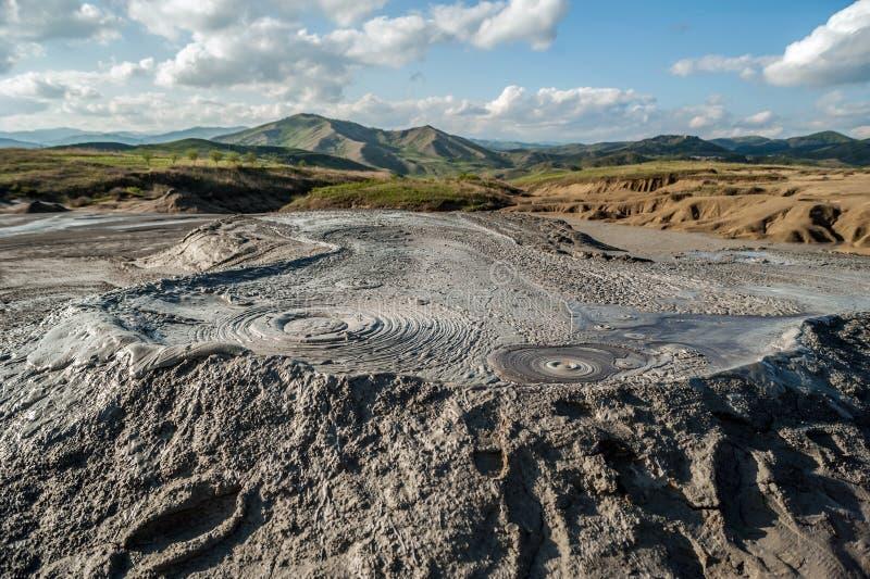 Изумительное тинное явление вулкана стоковые фото