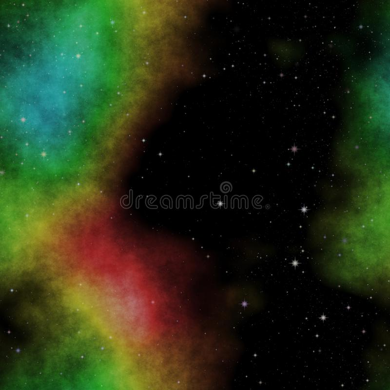 Изумительное illustraton космоса с звездами и красочным межзвёздным облаком в b иллюстрация штока