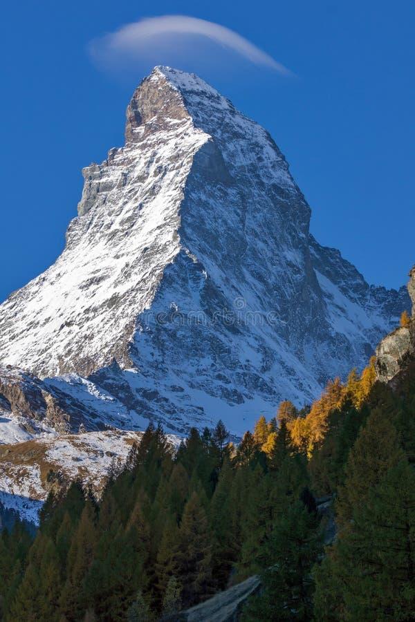 Изумительный ландшафт Маттерхорна от Zermatt, Альпов стоковая фотография