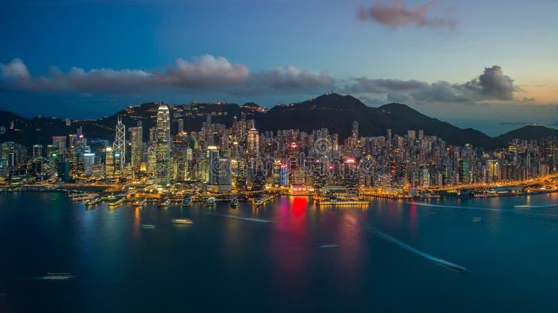 Изумительный взгляд Гонконга стоковое фото rf