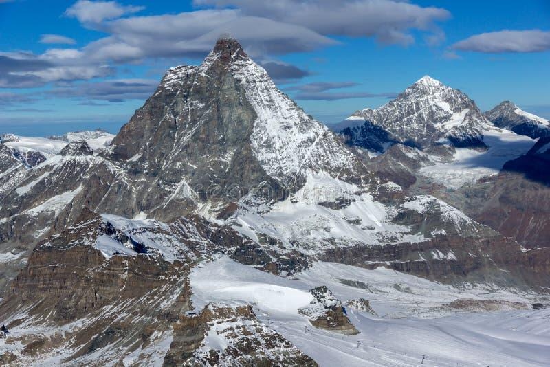 Изумительный взгляд держателя Маттерхорна, кантона Вале, Альпов стоковая фотография rf