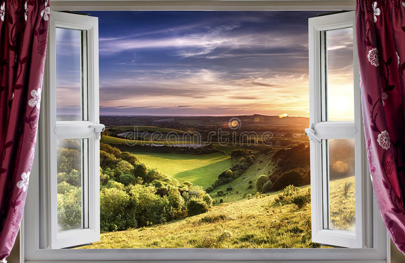 Изумительный взгляд окна стоковые фотографии rf