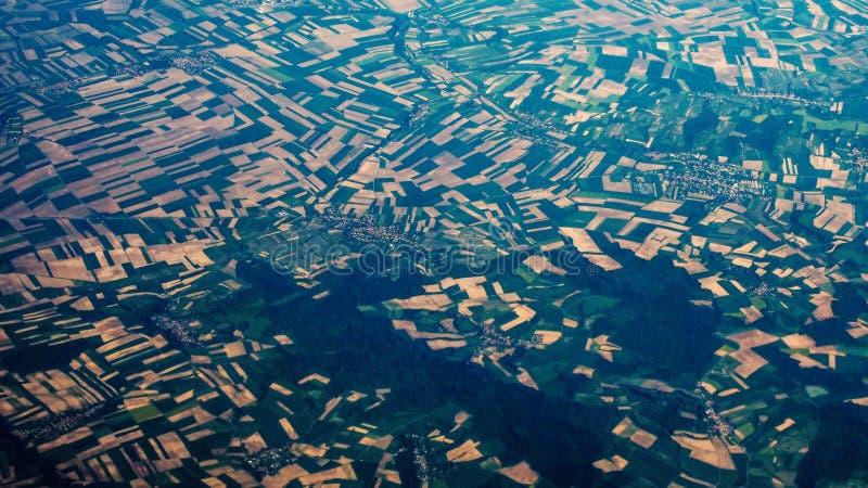 Изумительный вид с воздуха стоковая фотография rf