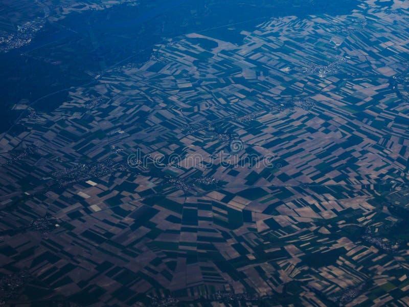 Изумительный вид с воздуха стоковое изображение