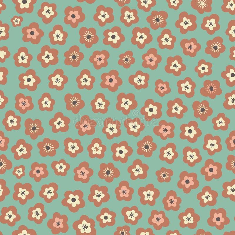 Изумительный милый безшовный винтажный красочный цветочный узор стоковое фото