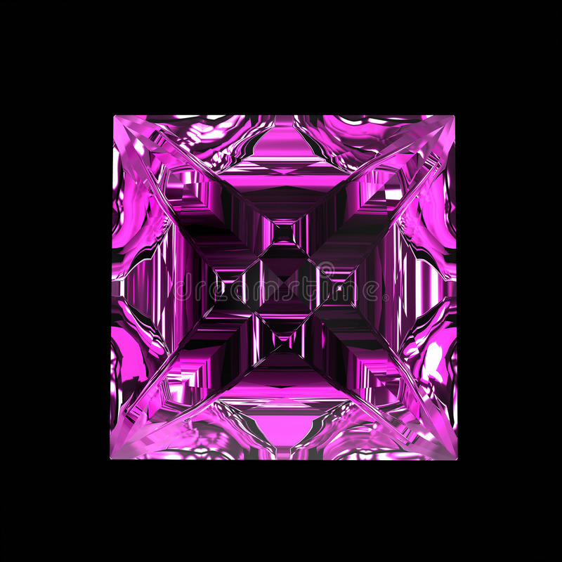Изумительный фиолетовый самоцвет иллюстрация штока