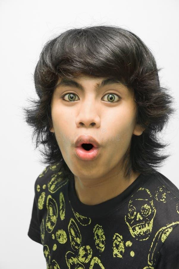 изумленный подросток портрета emo стоковые изображения rf