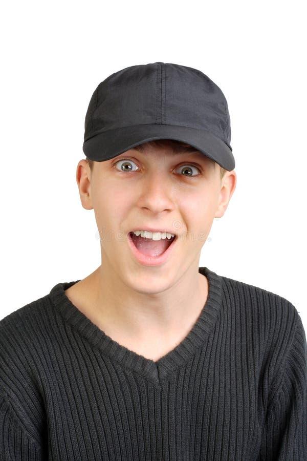 Изумленный подросток стоковое фото rf