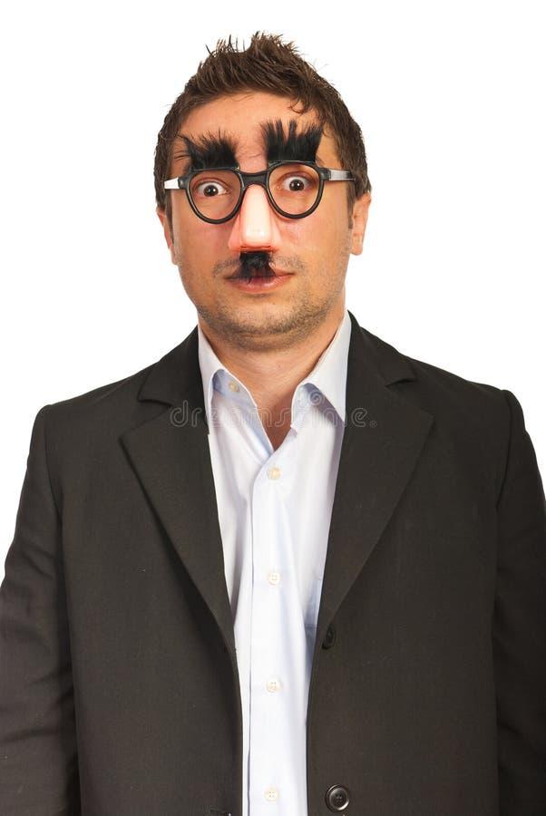 Изумленный смешной бизнесмен стоковые изображения rf