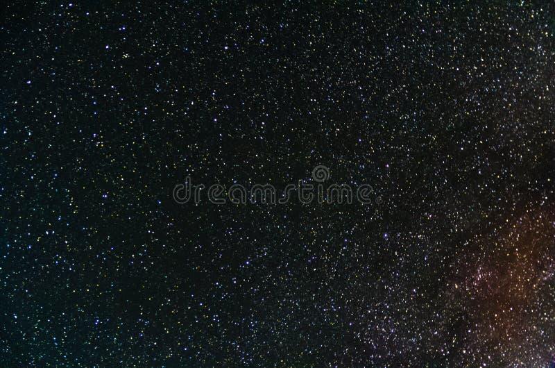 Изумляя взгляд на ночном небе стоковая фотография rf