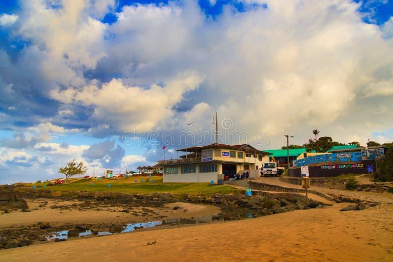 Изумляя облака на с видом на море стоковые изображения rf