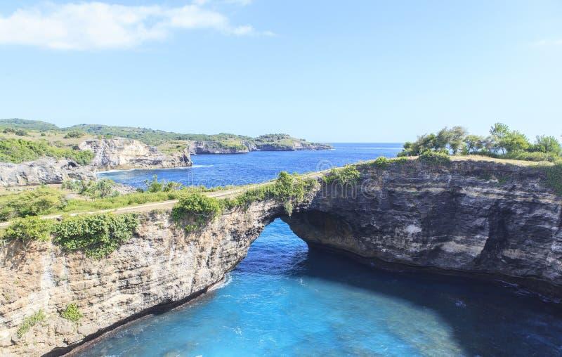Изумляя landcape в острове Nusa Penida в Бали стоковые изображения