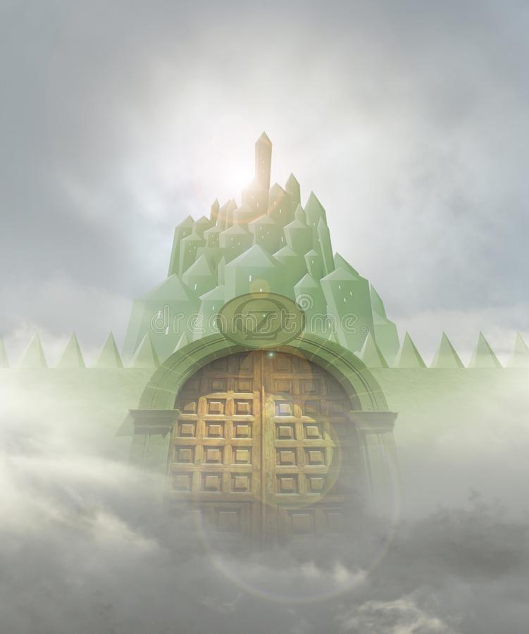 Изумрудная дверь города бесплатная иллюстрация