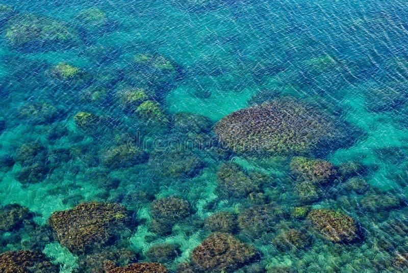 изумрудное простое море стоковое изображение