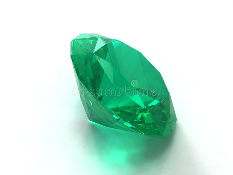 изумрудный gemstone иллюстрация вектора