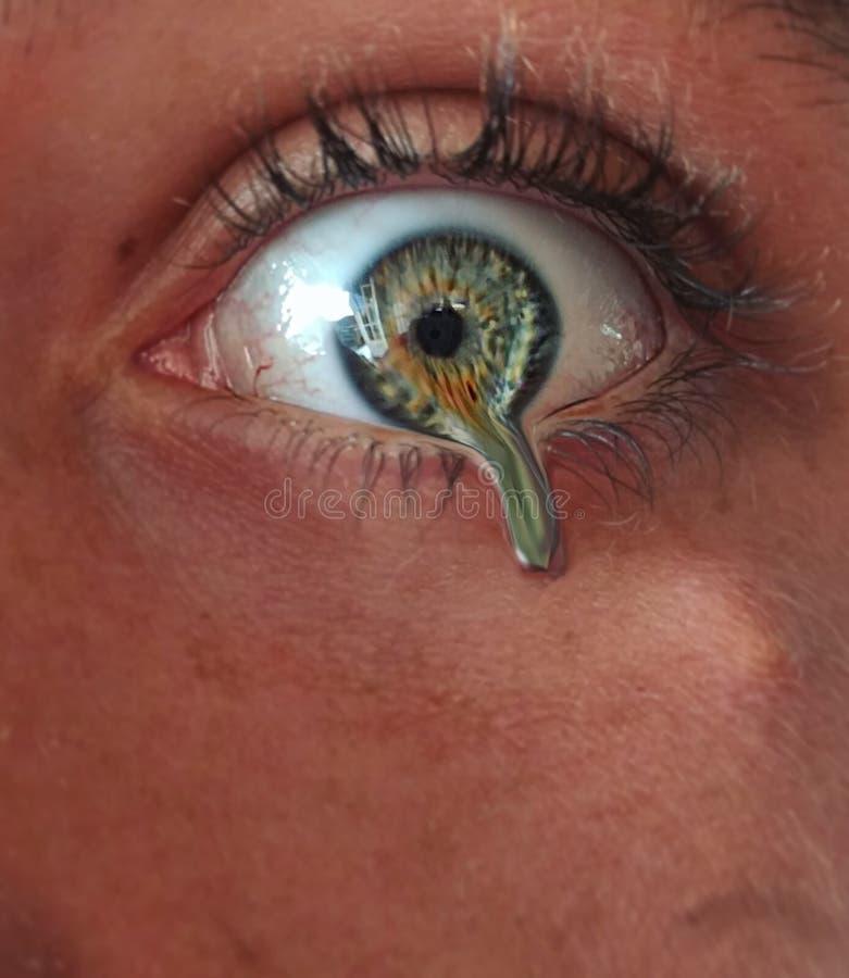 Изумруд отключения глаза жидкостный стоковое изображение rf