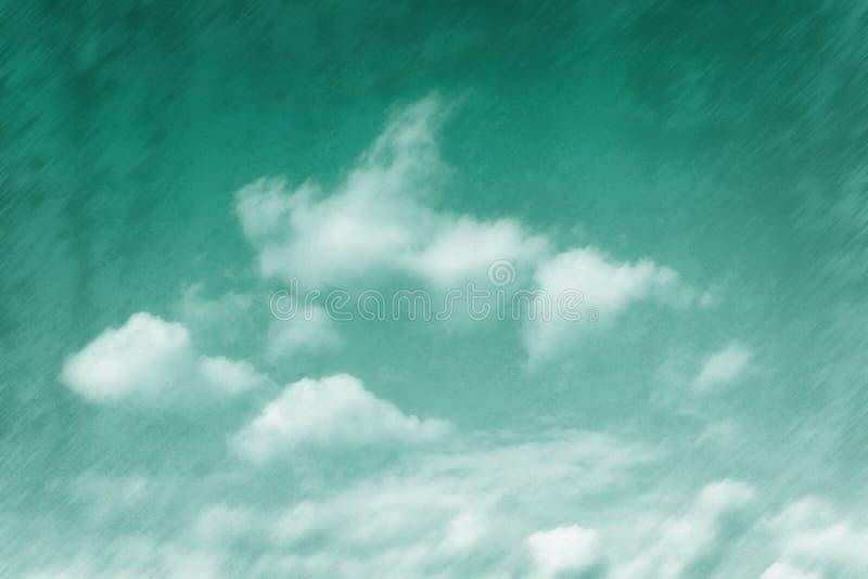 Изумруд tinged небо стоковые изображения rf