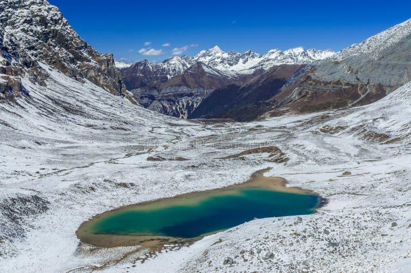 Изумрудное озеро на заповеднике Yading стоковое изображение