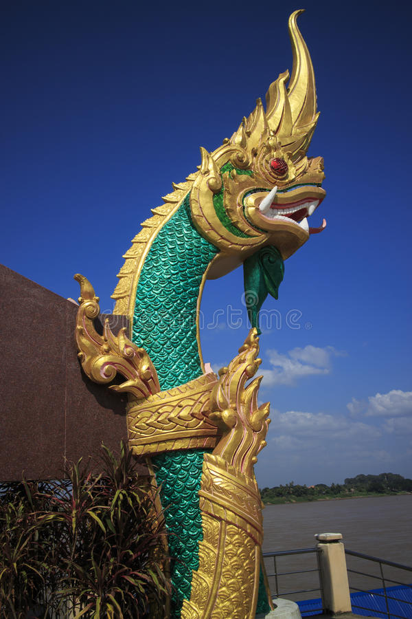Изумрудно-зеленый Naga стоковое изображение