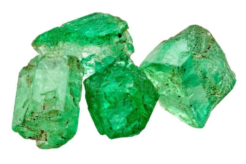 4 изумрудных кристалла стоковые изображения rf