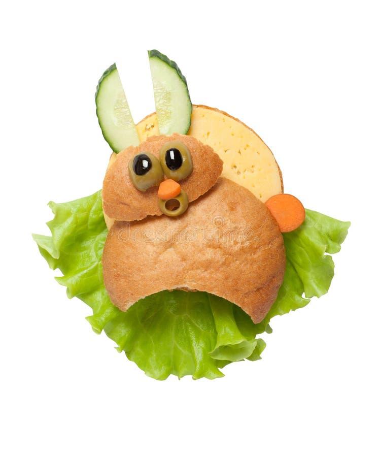 Изумленный кролик сандвича стоковое изображение rf