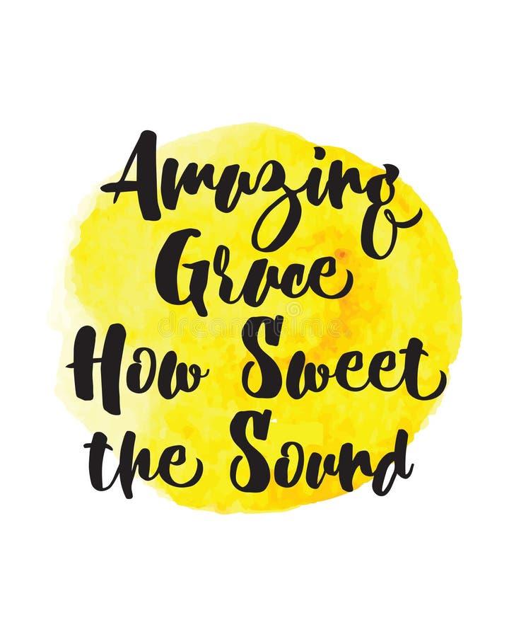 Изумляя Грейс как сладостный звук иллюстрация вектора