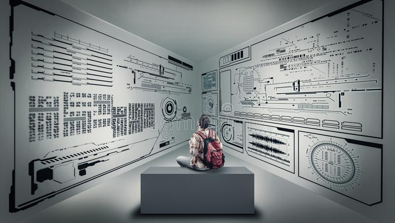 Изучать данные по informatics стоковые изображения rf