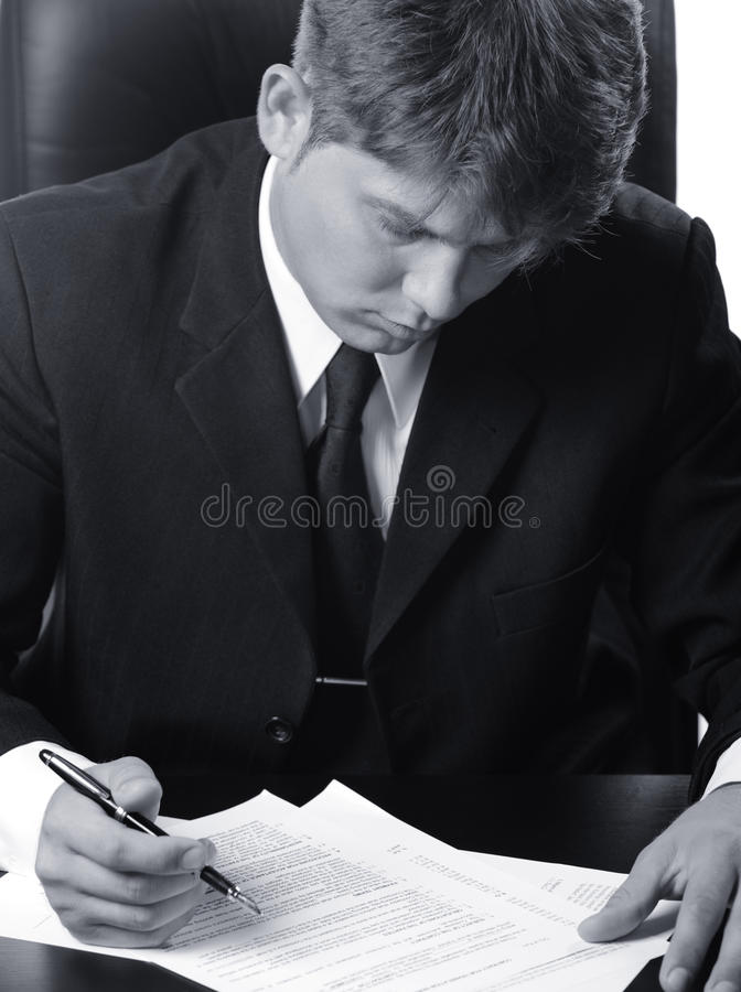 изучать подряда бизнесмена стоковая фотография rf