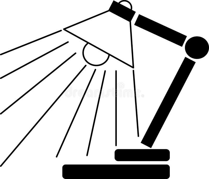 Изучение значка или логотипа ветвика лампы иллюстрация вектора