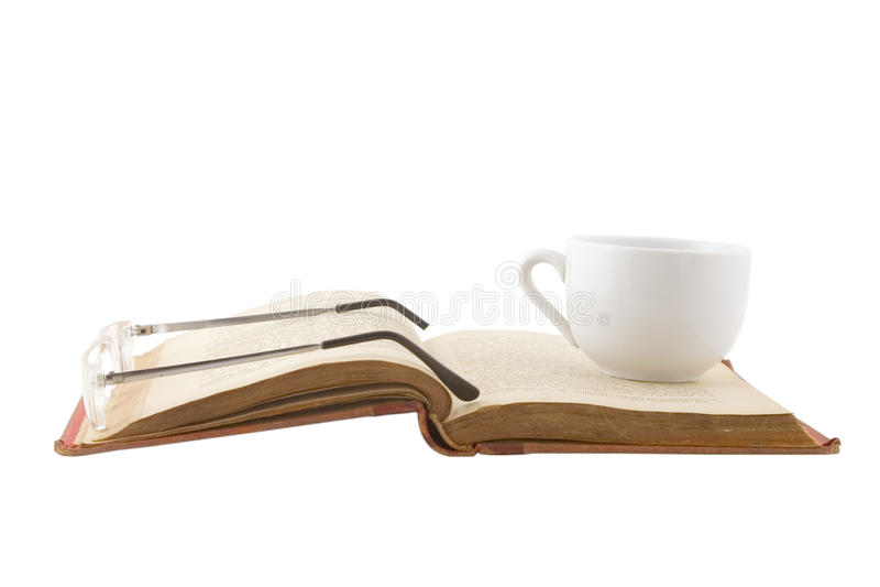 изучение кофейной чашки пролома стоковые фотографии rf