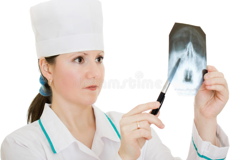 изучение x луча доктора стоковое фото