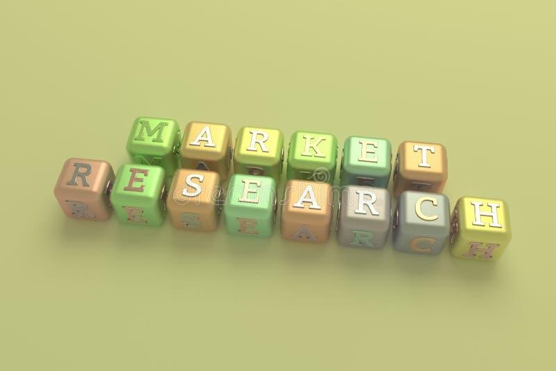 Изучение рыночной конъюнктуры, выходя на рынок ключевое слово Для интернет-страницы, графического дизайна, текстуры или предпосыл бесплатная иллюстрация