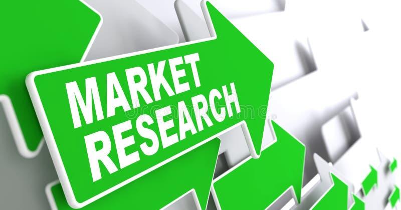 Изучение рыночной конъюнктуры на зеленой стрелке. бесплатная иллюстрация