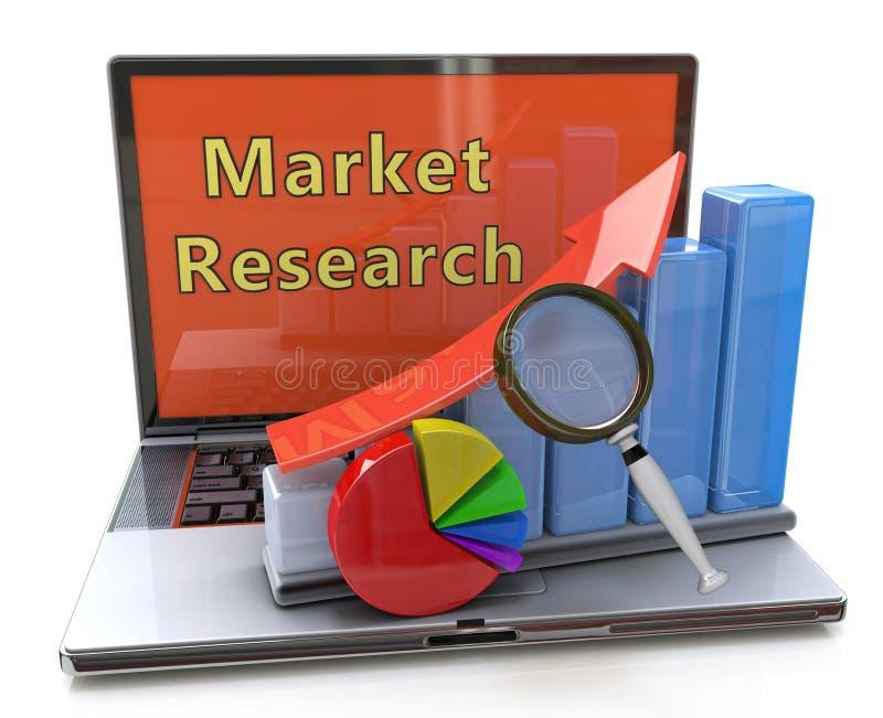 Изучение рыночной конъюнктуры, финансовое планирование, бухгалтерия, развитие иллюстрация вектора