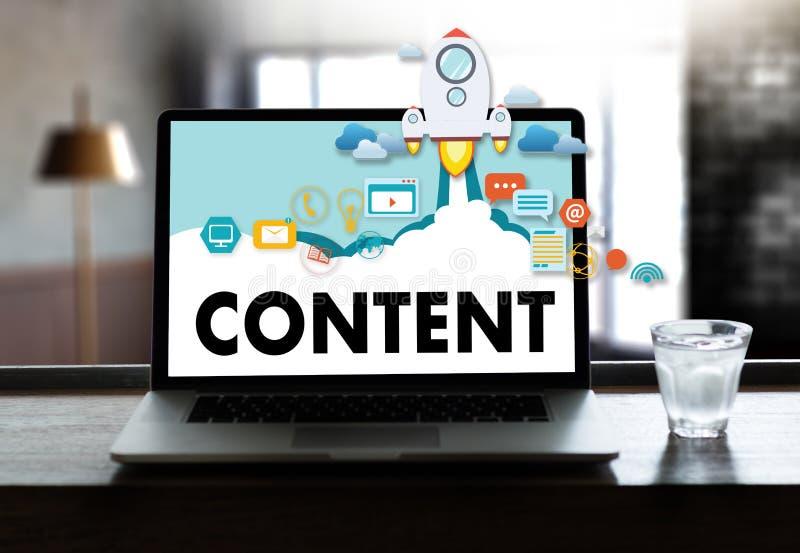 издание средств массовой информации содержимым данным по содержания маркетинга Blogging сообщает стоковое фото rf