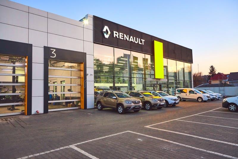 02 из апреля 2019 - Vinnitsa, Украина Выставочный зал RENAULT стоковые фотографии rf