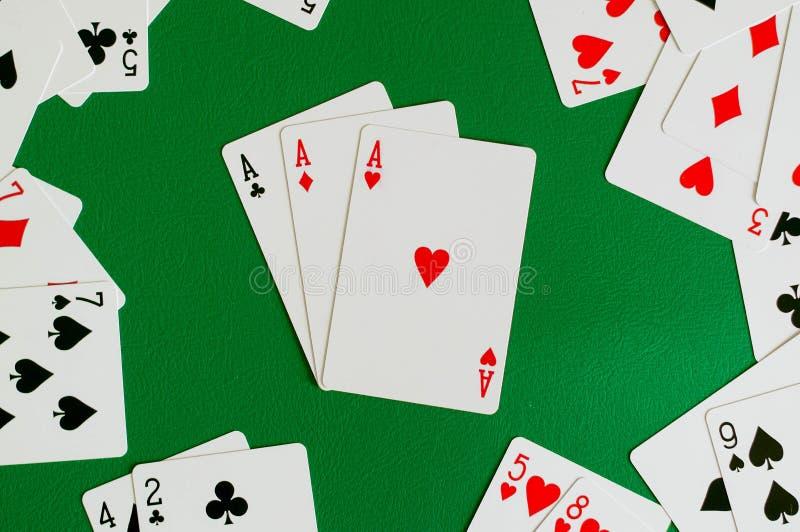 3 из туза вида, карточка покера стоковая фотография