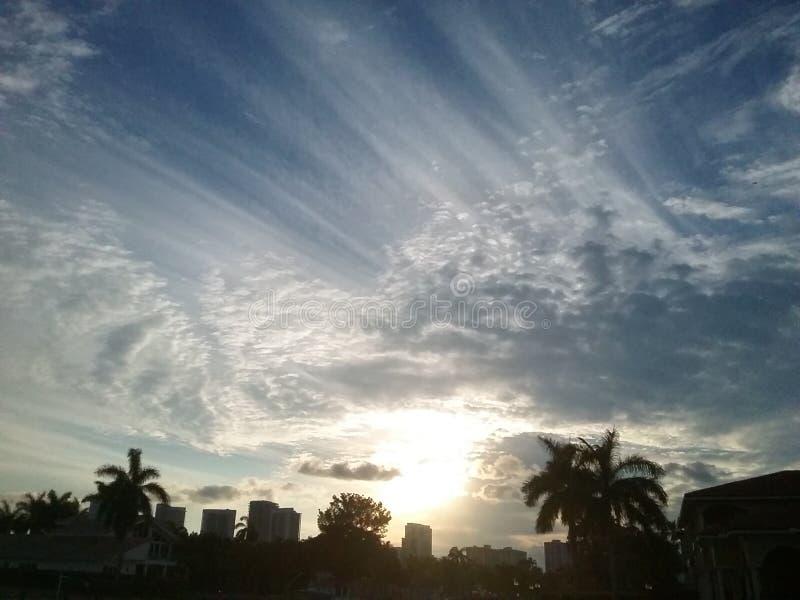 излучает солнечность стоковое изображение rf