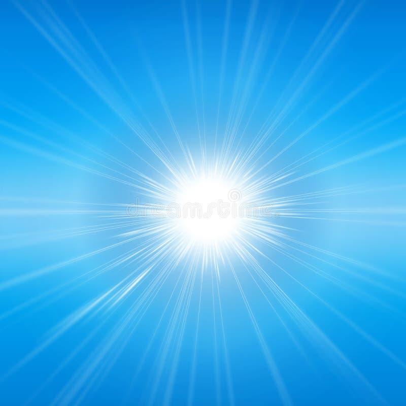 Излучающая солнечность иллюстрация вектора