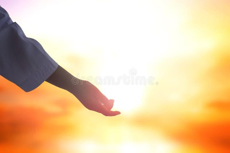 Иисус помог руке стоковая фотография rf